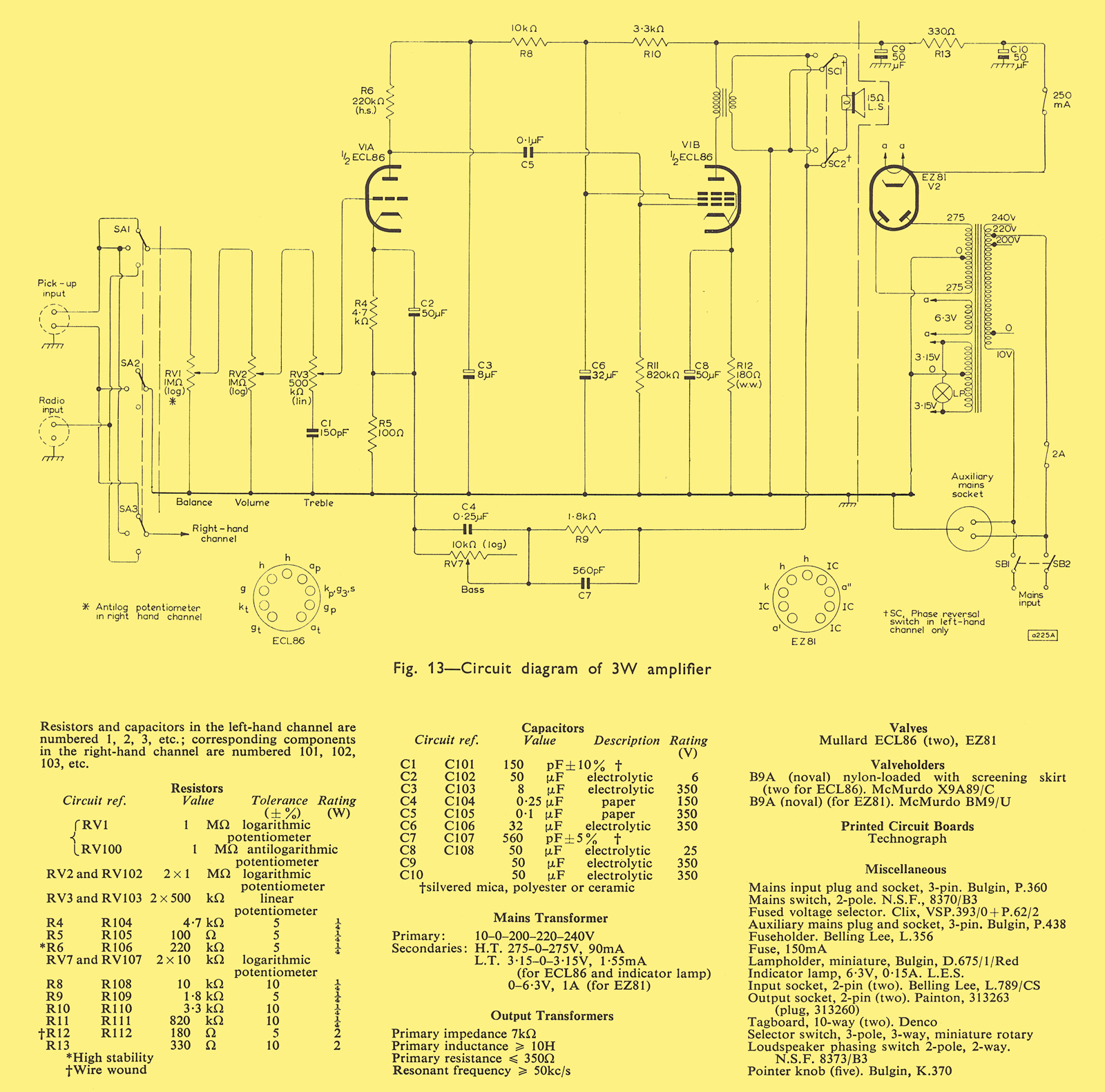 Mullard Wiring Diagram Stereophonic Pictures Schematic Dynaco Mkii Tube Amplifier Ampslabcom Three Watt Economcal 1600x1581