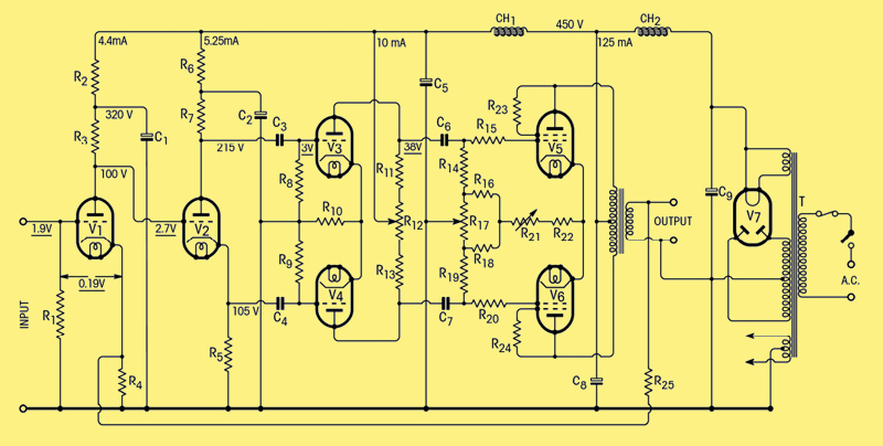 Vintage hk a224 besides Lt1083 Lt1084 Regulator With Soft Startup further 2a3 6n3p further Vintage michaelsonaustin tva1 additionally Riaa Standard Hi Fi Phono Pre lifier. on tube amplifier schematics