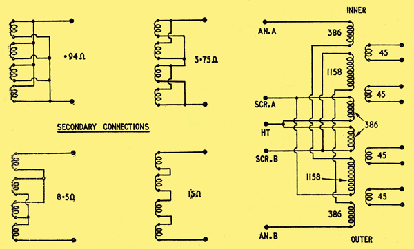 Output Transformer Wiring Diagram : Tube amp output transformer wiring radio diagram