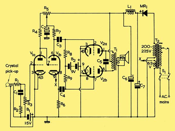 Experimental 12AX7 12AU7 Audio Amplifier
