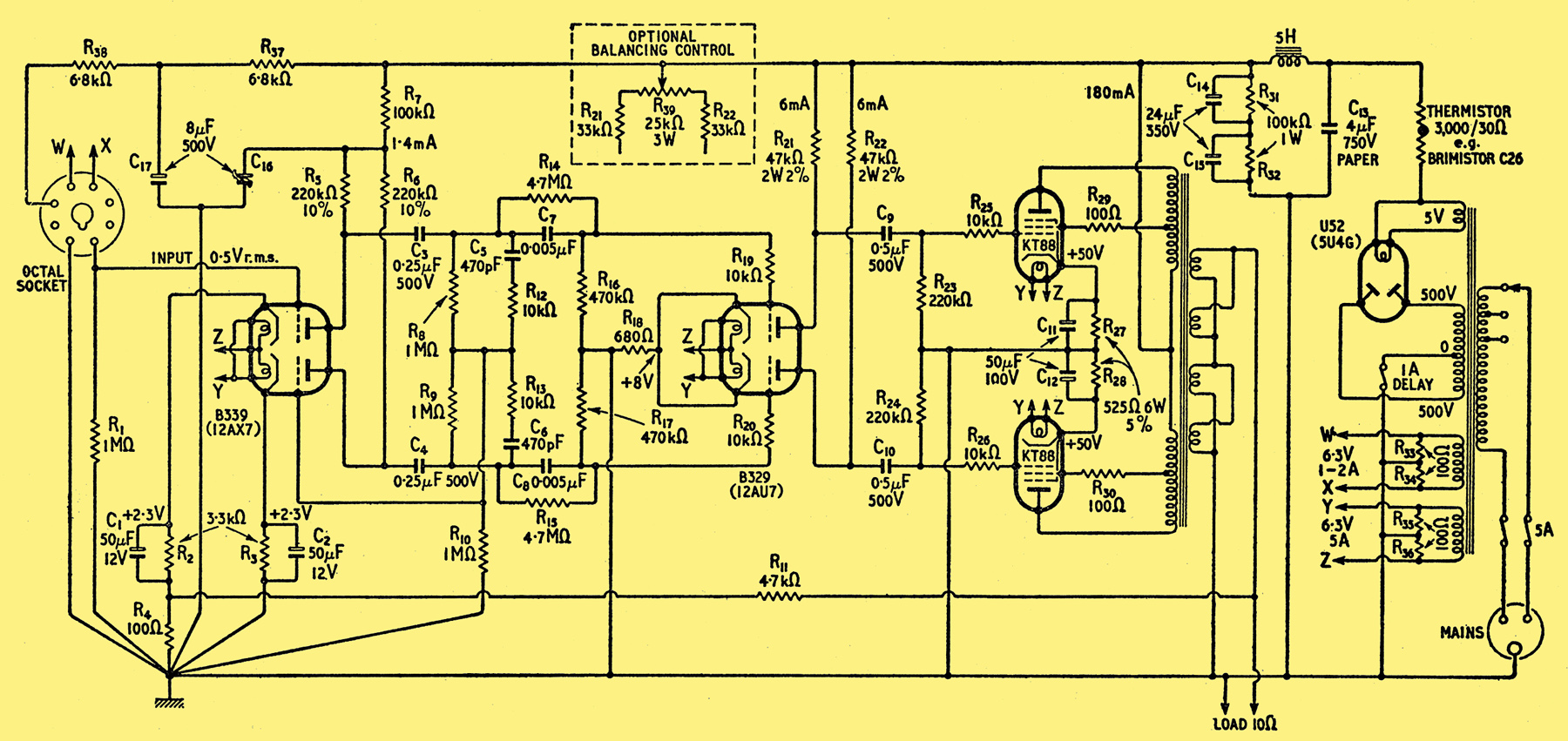 design for a 50 watt amplifier rh r type org 500 watts audio amplifier  schematic diagram